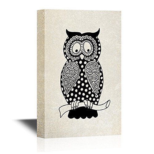 Ethnic Style Owl with Floral Pattern