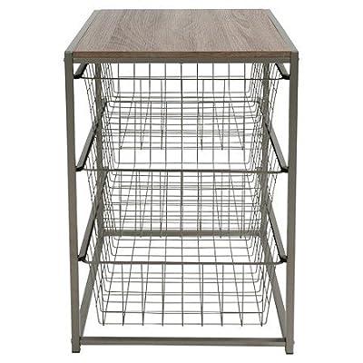 3 Drawer Closet Organizer Grey Birch Threshold TRG