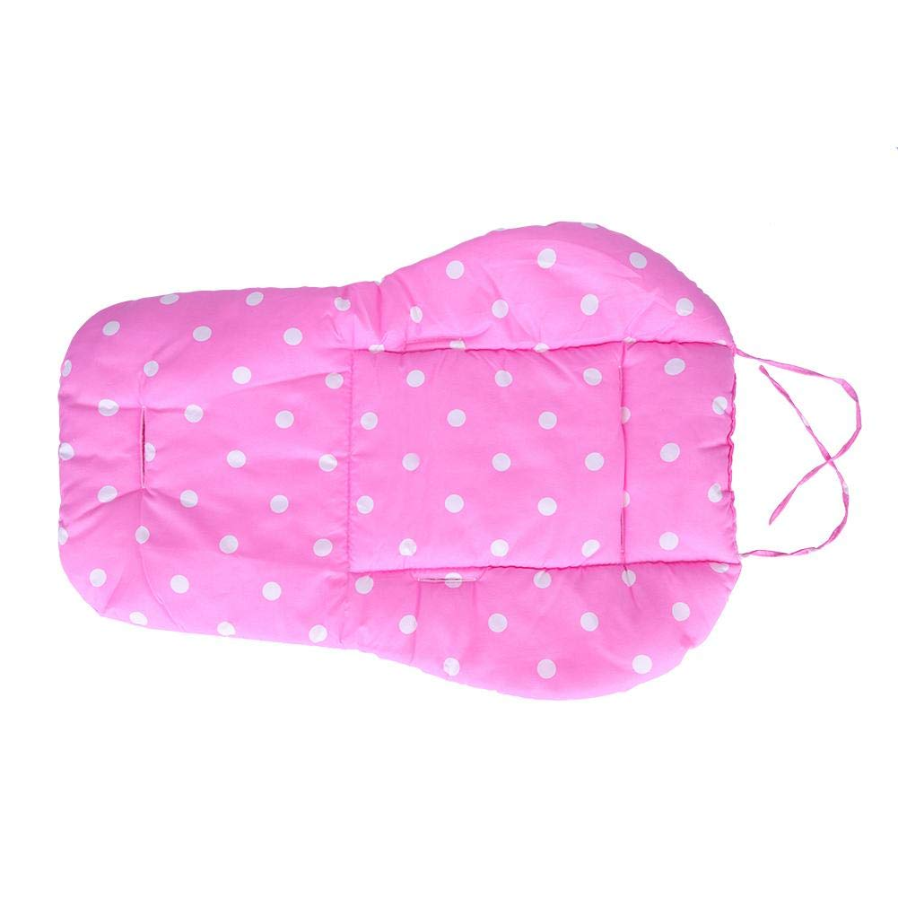 Baby Seat Liner Reversible Pure Cotton Universal Baby Stroller Cushion Pad for Stroller Seat Jogger Bouncer Supports by Hztyyier