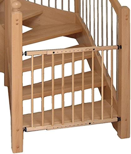 Barrera de seguridad para escaleras Protección de Madera Maciza Para Niños Mod. Bravo Natural brillante: Amazon.es: Hogar