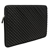 Image of Laptop Sleeve, EveCase 15~15.6 inch Diamond Foam Splash & Shock Resistant Neoprene Universal Sleeve Zipper Case Bag for ASUS ACER HP LENOVO DELL TOSHIBA SAMSUNG Chromebook Ultrabook Notebook - Black