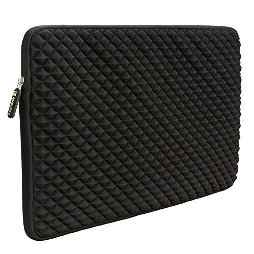Pc Inspiron Laptop Notebook Computers (Laptop Sleeve, EveCase 15~15.6 inch Diamond Foam Splash & Shock Resistant Neoprene Universal Sleeve Zipper Case Bag for ASUS ACER HP LENOVO DELL TOSHIBA SAMSUNG Chromebook Ultrabook Notebook -)