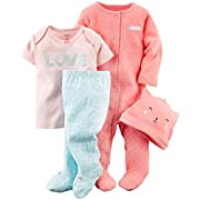 Carter's Baby Girls' 4 Piece Layette Set (Baby) - Kitty - 3M