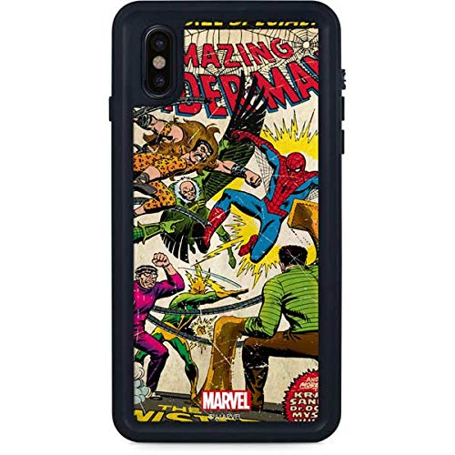 Skinit Spider-Man vs Sinister Six Waterproof Case for iPhone Xs Max - Officially Licensed Marvel/Disney Phone Case - Snow, Dust, Waterproof iPhone Xs Max Cover ()