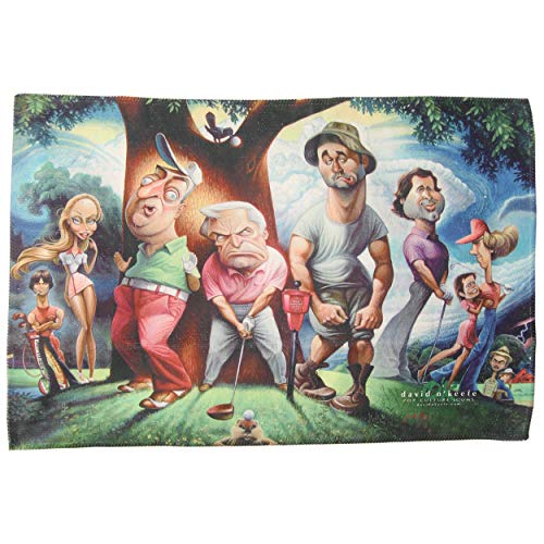 (Dynamic Brand Caddyshack Tribute HiDef Microfiber Golf Towel, Cast Print)