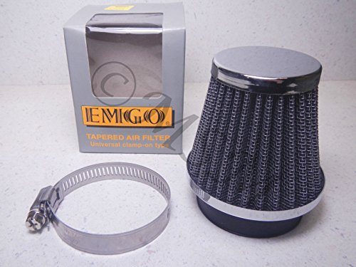 K&L Supply NEW EMGO 48mm UNIVERSAL CLAMP-ON TAPERED RACE POD AIR FILTER 19-0246