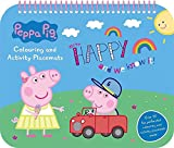 The Home Fusion Company Peppa Pig Colouring and Activity Placemats Childrens Kids Travel Creative Art Gift