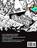 Graffiti Letters and Characters Coloring Book: A