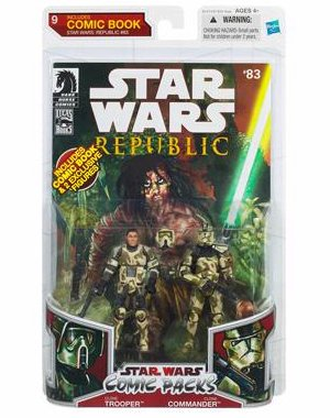 Star Wars 2009 Comic Book Action Figure 2Pack Dark Horse Star Wars Republic #83 Clone Trooper & Clone Commander Bogey Squad ()
