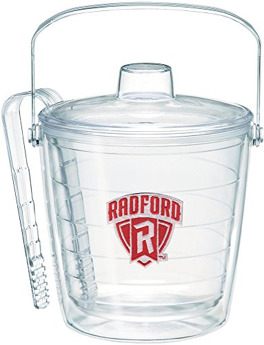 (Tervis 1255839 Radford Highlanders Logo Insulated Ice Bucket and Tongs with Emblem and Clear Lid-Boxed, 87oz)