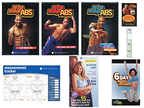 Hip Hop Abs 3 DVD Bundle (Last Minute Abs/Hips, Buns & Thighs/Fat Burning Cardio Total Body Burn + Ab Sculpt Secrets to Flat Abs) w/Tape Measure & Measurement Card (Hip Hop Abs Total Body Burn Workout)