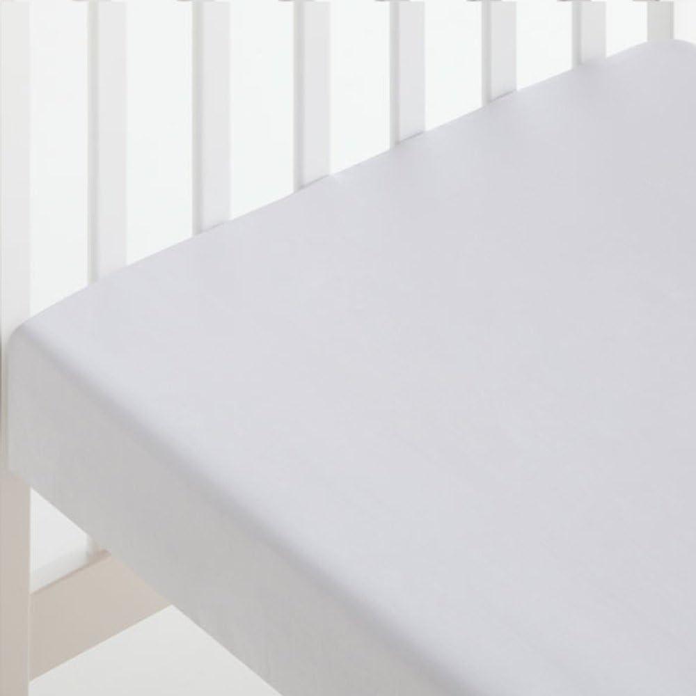 S/ábana Bajera CUNA 60x120 Ajustable 100/% Algod/ón Color BEIGE