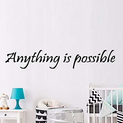 Amazon Com Wall Sticker Home Art Quotes Anything Is