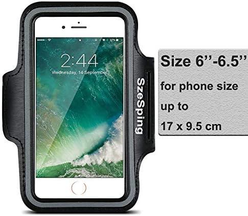 Fascia da Braccio Portacellulare per Xiaomi Mi 10 Lite 5G Redmi Note 9 Pro Samsung Galaxy A10 A21s A30s A50 A51 A71 S20 S9 Plus Cinturino Regolabile Sportive Custodia Correre con Supporto Chiave