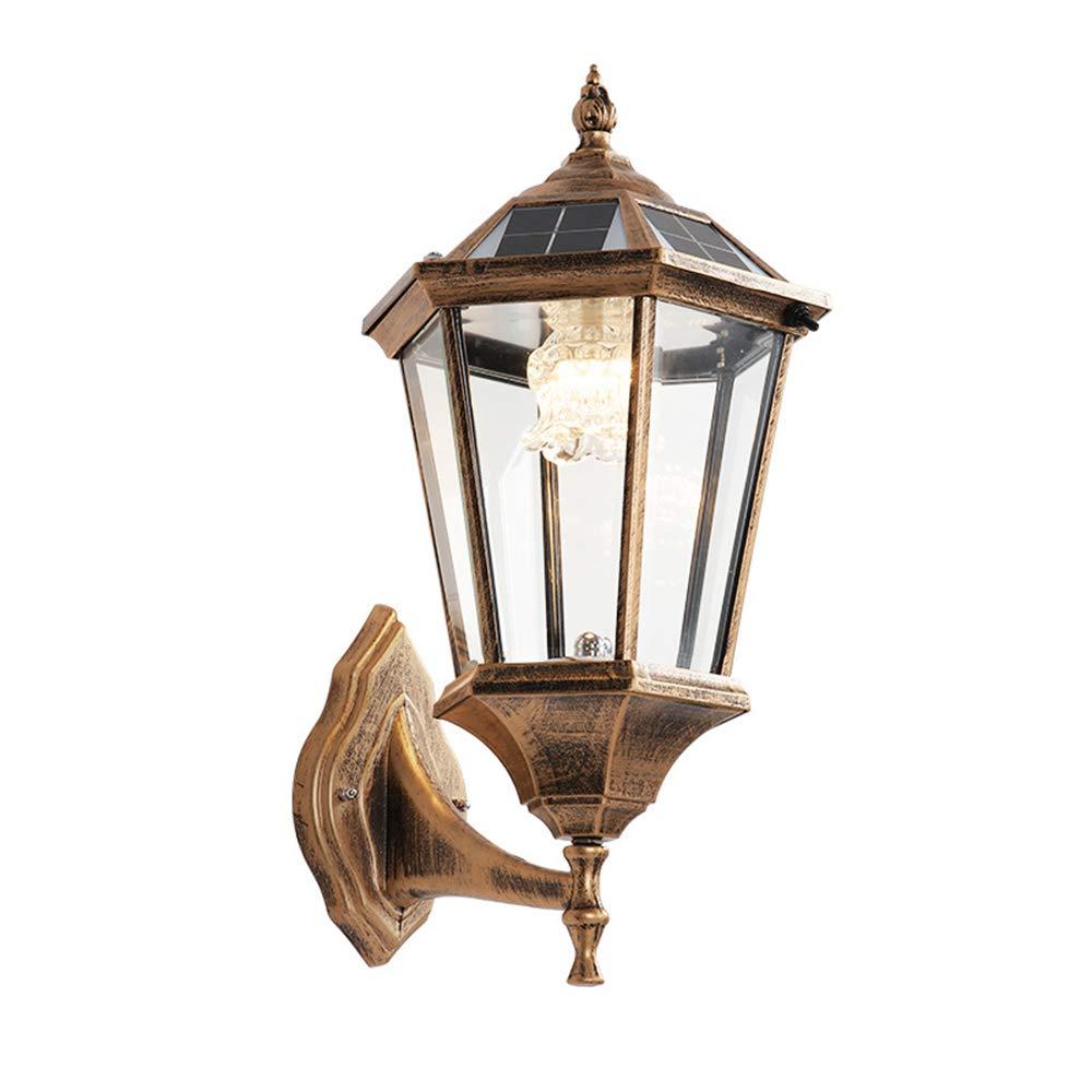 ソーラーウォールライト、インテリア照明、LED防水ガーデンランプ、ヴィラパーク用中庭用廊下、1500MAH、ウォームライト/白色光   B07SQ1BZJR