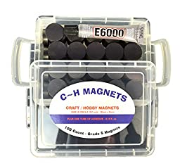Ceramic Industrial Magnets - Craft, Hobby, Science, School, And Buisness Bulk Disc 100pcs. By C&H Magnets