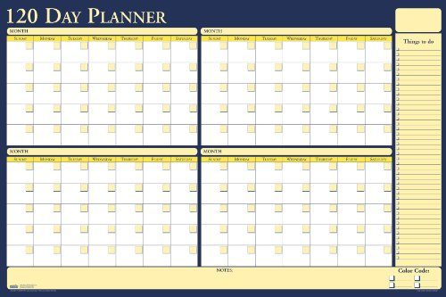 - House of Doolittle Plan-A-Board 90/120 Day Non-Dated Laminated Planner Reversible 36 x 24 Inch (HOD637)