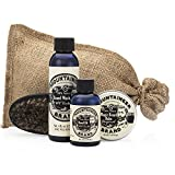 Beard Grooming Care Kit for Men by Mountaineer Brand | Beard Oil (2oz), Conditioning Balm (2oz), Wash (4oz), Brush (Original/Timber)