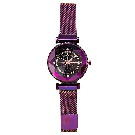 KINJOHI Mujeres Relojes de Lujo de Acero Inoxidable a Prueba de Agua Reloj de Pulsera analógico Moda Cuarzo niñas: Amazon.es: Relojes