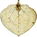 New 24Karat Gold Plated Aspen Leaf Pendant