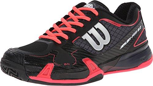 Wilson Women's Rush Pro 2.0 Coal/Black/Red Athletic Shoe - 6 B(M) US (Wilson Womens Tennis Apparel)