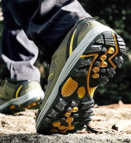 Baskets Randonnée Chaussures Oudan Hommes 38eu Air Taille Bottes L'entraînement Cuir De Marche Pour Plein coloré Trekking 26 En YwUqAUzx