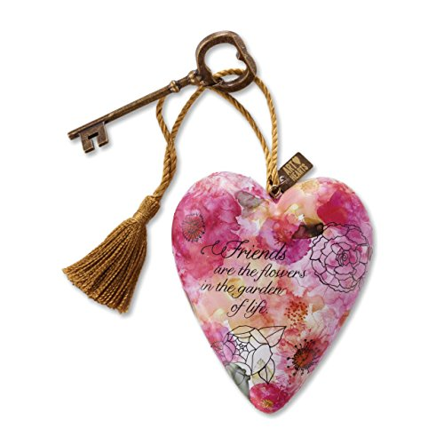 Friends Are the Flowers Art Heart Sculpture