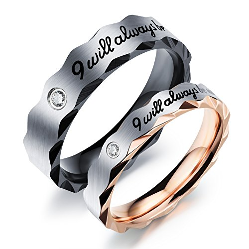 Pair Promise Rings - Fate Love 2pcs Romantic