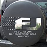 Ferreus Industries Polished Stainless Tire Cover F & J Letters Only w/o Cam fits: 2007-2013 Toyota FJ Cruiser OTH-102-10
