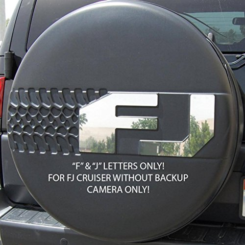 Aftermarket Accessories Cruiser Fj (Ferreus Industries Polished Stainless Tire Cover F & J Letters Only w/o Cam fits: 2007-2013 Toyota FJ Cruiser OTH-102-10-a)