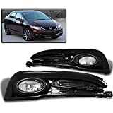 ZMAUTOPARTS 15 Honda Civic Sedan 4Dr Bumper Driving Fog Lights Lamp Chrome W/Bulb+Switch