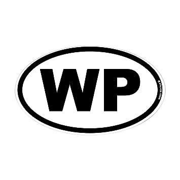 Amazon.com: CafePress – WP – Oval calcomanía para ...