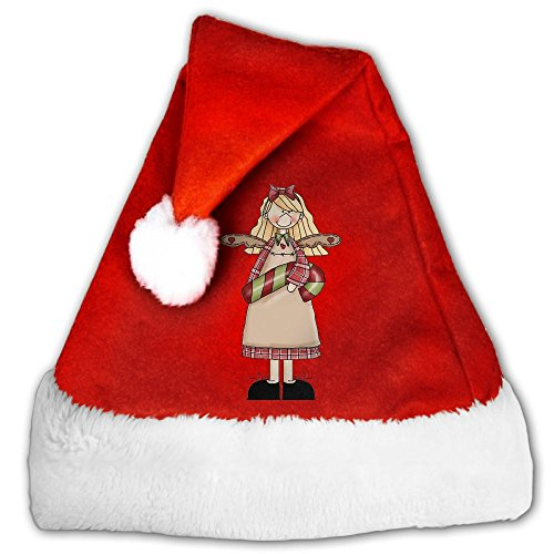 Christmas Girl Traditional Velvet Christmas Santa Hat For Christmas Party - Maji Jim
