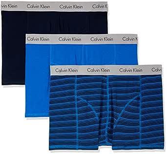Calvin Klein Men's Elements Trunk, Zephyr Stripe/Skyview/Shoreline/Skyview, S