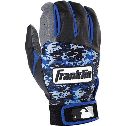 Franklinスポーツ2016 MLB digi-camoバッティング手袋(ペア) B074MQYKBJBlack|Royal Adult Small