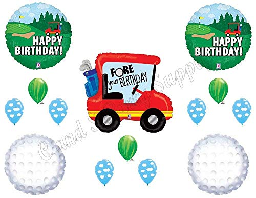 Golf Ball Balloons - GOLF FORE YOUR Birthday Party Balloons