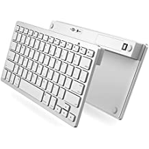 iPad Pro Keyboard, OMOTON Slim Bluetooth Keyboard for iPad Air 2/1, iPad Mini 4/3/2/1, iPad 4/3/2, iPhone 6s/6s Plus/7/7 Plus and other Bluetooth Enabled Device, For Apple,White