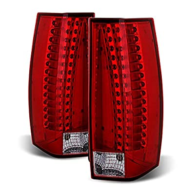 ACANII - For 2007-2014 Cadillac Escalade ESV LED Rear Tail Lights Replacement Brake Lamps Driver & Passenger Side: Automotive