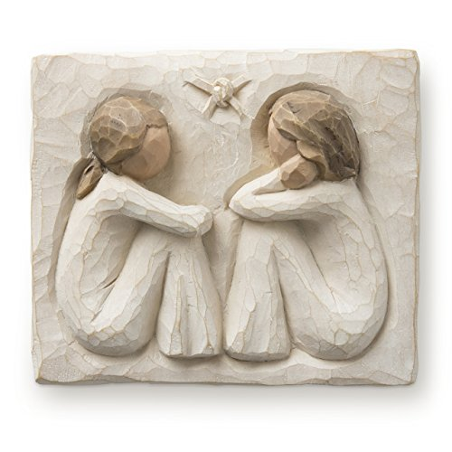 Willow Tree hand-painted sculpted Plaque,  Friendship (26502)