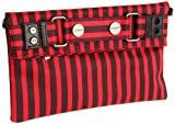 Sydney Love Stripe Collection Clutch,Red/Black,One Size, Bags Central