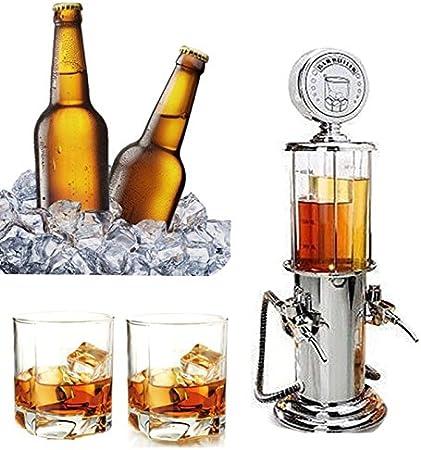 TOOGOO Vino Gasolinera Coctel Dispensador Bebidas Bebidas cerveza hine Bombas dobles Dispensador de licor