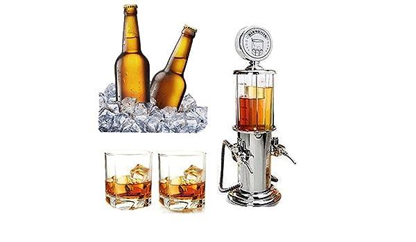 Compra SODIAL Vino Gasolinera Coctel Dispensador Bebidas Bebidas cerveza hine Bombas dobles Dispensador de licor en Amazon.es