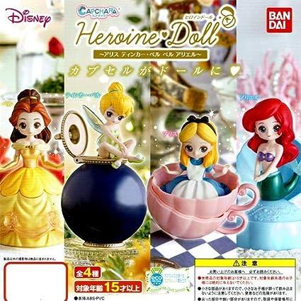 Disney Princess CapChara Heroine Doll Mini Figure Ariel Cinderella Snow White
