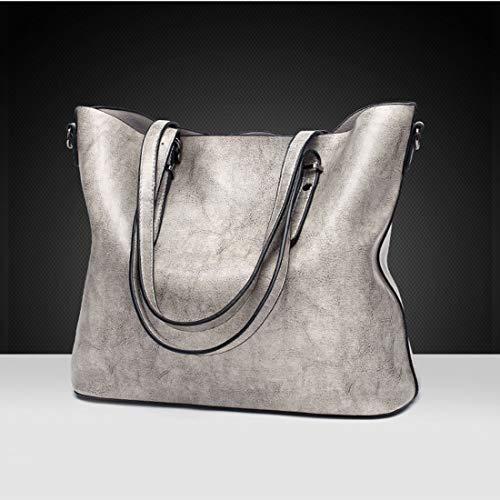Hand colore Ploekgda Leather morbida Pu Grigio Women e Spalla For calda chiaro rosa Handbag qqv4AtrT