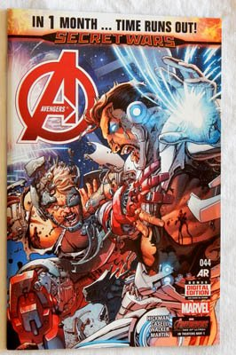 The Avengers #44 A-Cover Comic Book - TIME RUNS OUT - Marvel Comics 2015 - UNCIRCULATED 9.8 Grade - INCLUDES FOLD-OUT POSTER SEE PHOTOS