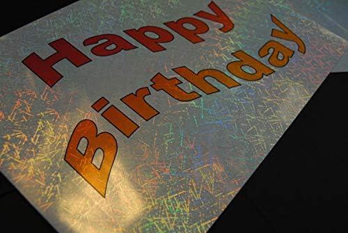 Klebefolie für Tintenstrahldrucker, Hologramm-Effekt, Metallic, 10 Blatt, A3