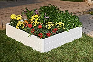 """NUVUE Products 26007 Raised Garden Bed, 44.5"""" x 44.5"""" x 11.5"""", white"""