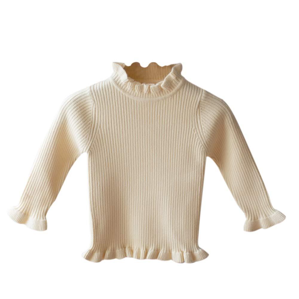 BOBORA Sweat-Shirt Bébé, Chandail Tricoté d'hiver pour Filles Garçons, Pull à Col Roulé à Manches Longues pour Enfants BO-UK963