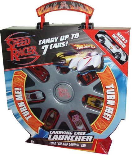 Hot Wheels Speed Racer Silver Carrying Case Launcher Plus Bonus of One 1:64 Scale Die Cast Car - Mach 5 (Case Speed Racer Carrying)