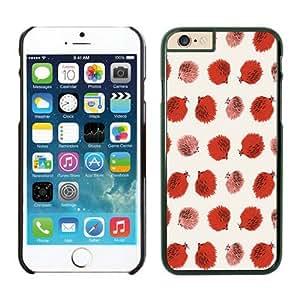 Cute Small Hedgehog Slim Apple Iphone 6 Case Cover 4.7 Inches in Black TPU